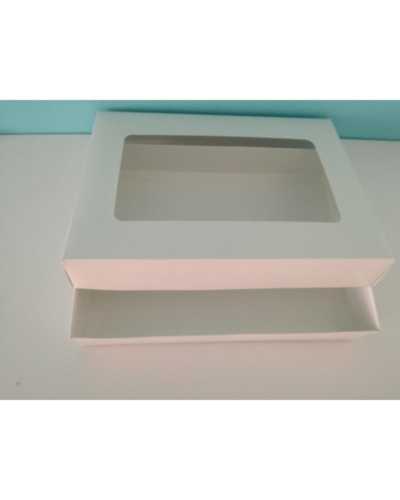10 бр луксозна кутия  с прозорец и отделен капак 23/31/5