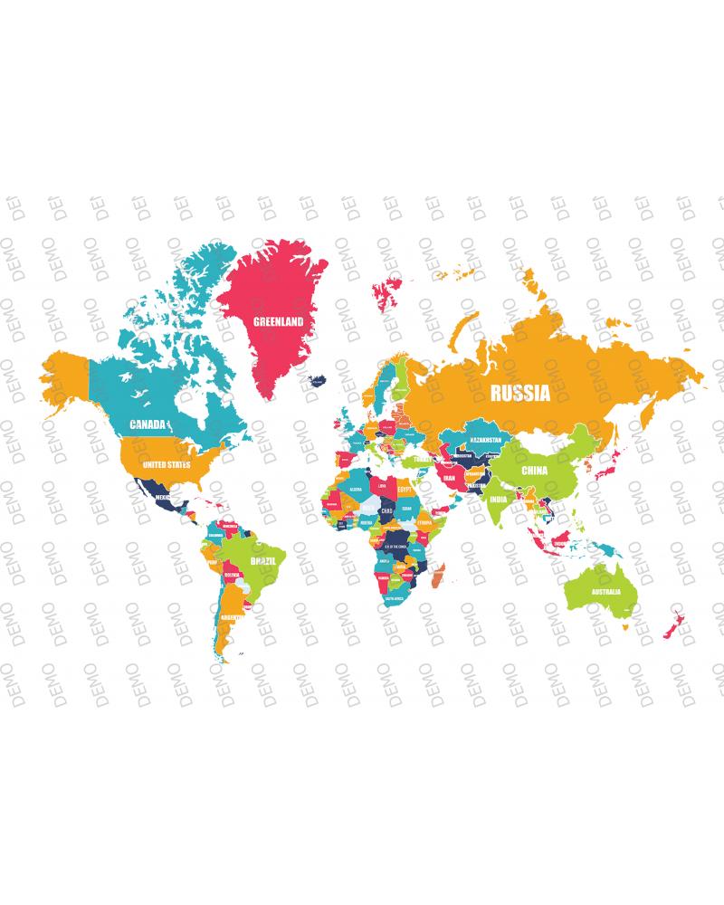 Карта световна вариант 2