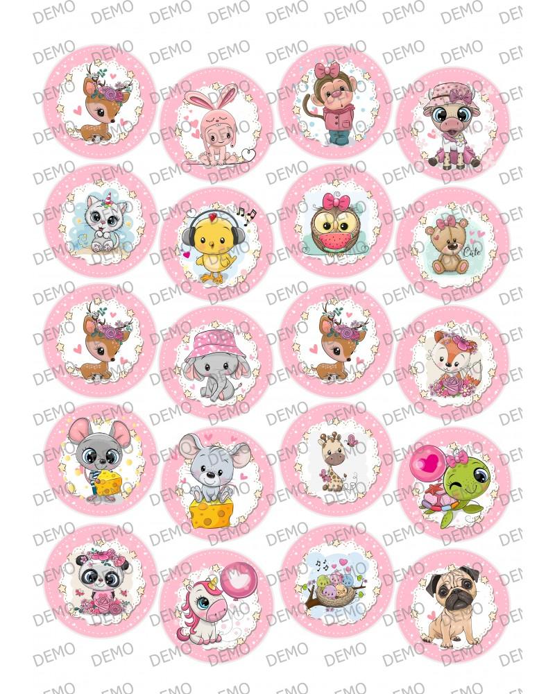 001j декори различни сладки  животни