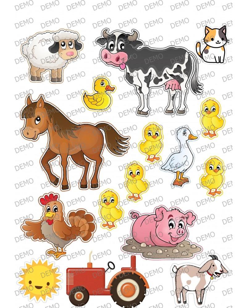 001 животни във фермата елементи