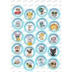 001jm декори различни сладки  животни