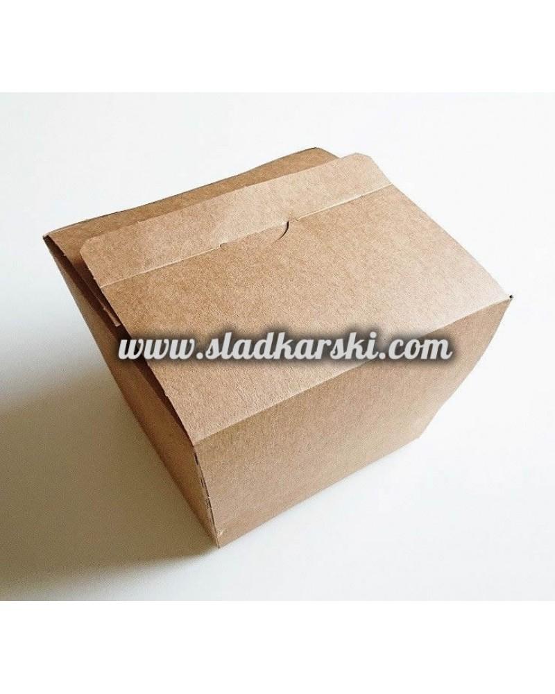 кутия кубична крафт картон  11*11,5*10 см