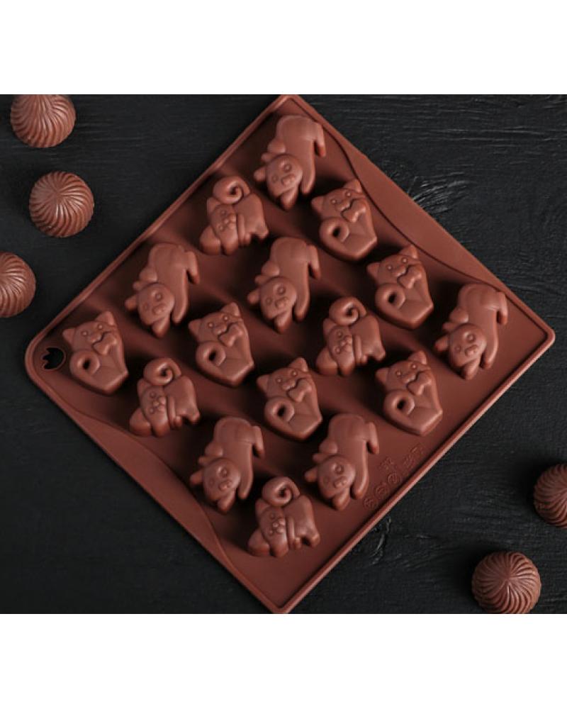котки форма за лед , шоколад , мини сапунчета
