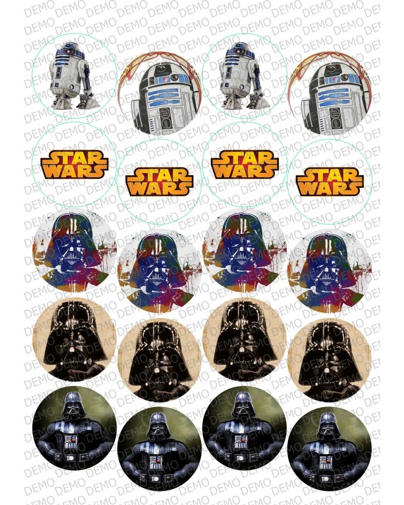 005 Star Wars декор за бисквитки/мъфини