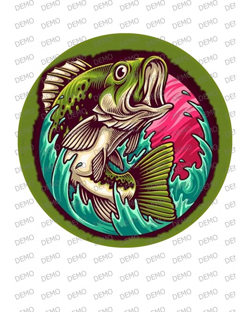 01 риболов  Декорация на вафлена или фонданова хартия