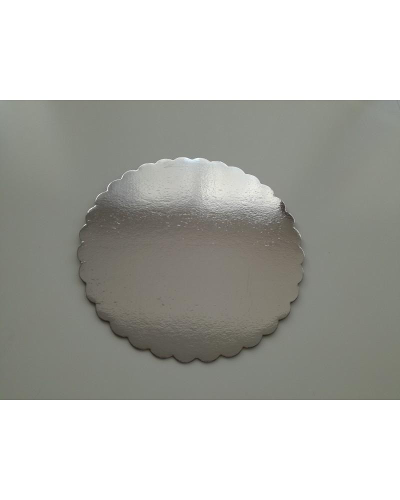Ф30 СМ Подложка за торта - сребърна -30 см