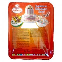 Захарно тесто /  БЯЛ фондан Ovalette -Katsan 1 кг