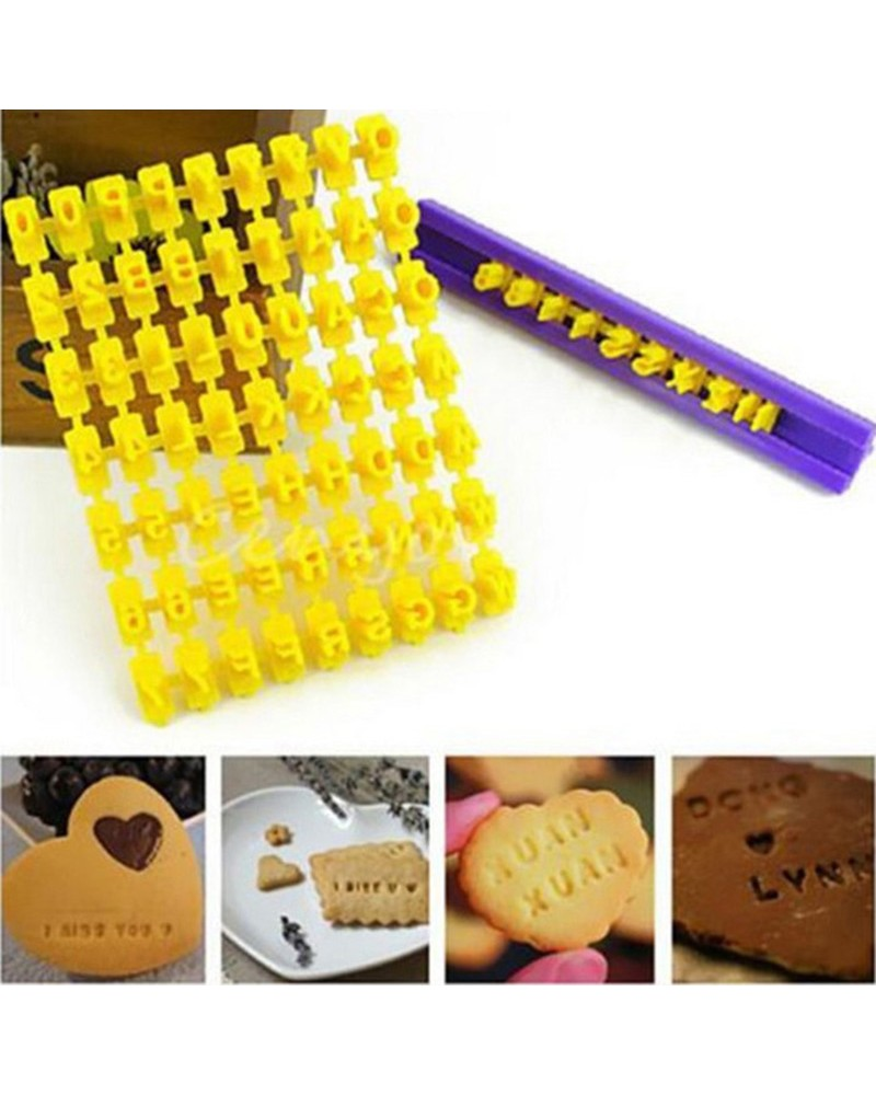 букви за декорация на бисквити /латиница/ Пластмасови