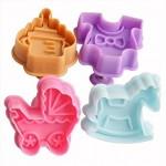 Бебешки форми за сладки с бутало