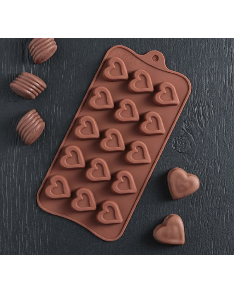 """форма за лед и шоколaд """"сърца"""""""