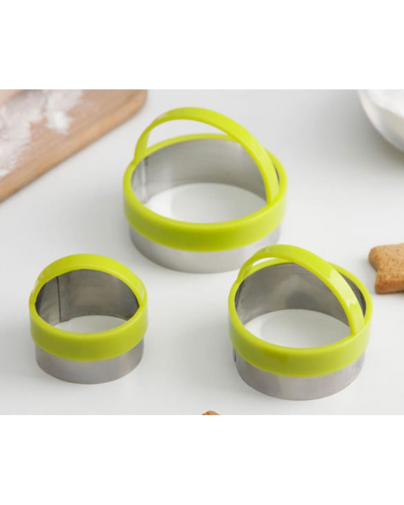 """форми за сладки """"KONFINETTA Кръг"""" комплект от 3 броя  *размер:7х4,5см"""